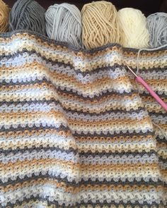 Crochet club: V stitch blanket by Kate Eastwood on the LoveCrochet blog