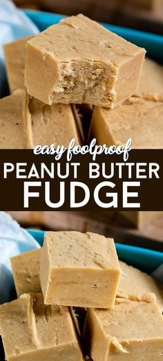 Foolproof Peanut Butter Fudge ingredients) - Crazy for Crust Make EASY Peanut Butter Fudge with Marhsmallow Cream! This old fashioned fudge has 4 ingredients and is made with fluff for a soft and delicious foolproof peanut butter fudge recipe. Fudge Recipes, Candy Recipes, Dessert Recipes, Cookie Recipes, Recipe For Fudge, Dinner Recipes, Old Fashioned Fudge, Pumpkin Fudge, Dessert Platter