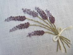 Lavender Linen Sachets 2 Hand Embroidered by Embroidery Applique, Cross Stitch Embroidery, Embroidery Patterns, Lavender Bags, Lavender Sachets, Bordados E Cia, Lesage, Brazilian Embroidery, Needlework