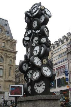 My welcome to Paris clocks I passed each time I left Gare ST Lazare.