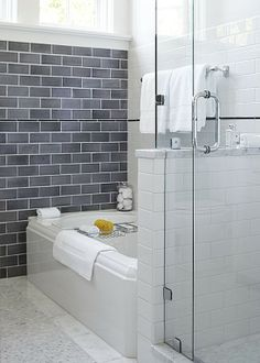 wall tile, half wall & shower glass