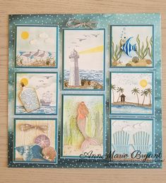 Hello there! I have a special project to share with you today! I have been working on this for a couple of days now and think I am final. Paper Folding Crafts, Paper Crafts, Diy Crafts, Xmas Crafts, Diy Shadow Box, Shadow Box Frames, Nautical Cards, Collage Frames, Collages