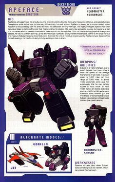 Transformers Universe - Gallery: G1 Apeface