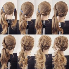 Hair wedding ponytail hairdos for 2019 Ponytail Hairstyles, Pretty Hairstyles, Wedding Hairstyles, Wedding Ponytail, Hair Wedding, Fancy Ponytail, Braid Ponytail, Braids, Hair Arrange