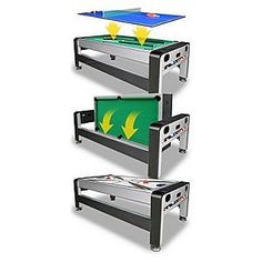 Great East Point Sports 7ft 3 In 1 Swivel Game Table