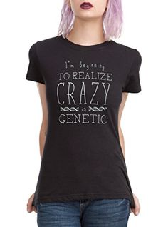 Orphan Black Crazy Is Genetic Girls TShirt *** Find out more about the great product at the image link.(This is an Amazon affiliate link and I receive a commission for the sales)