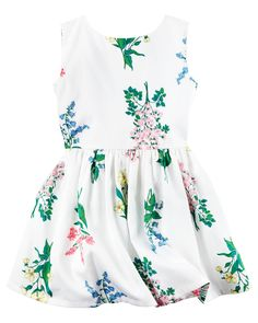Toddler Girl Sateen Floral Dress from Carters.com. Shop clothing & accessories from a trusted name in kids, toddlers, and baby clothes.