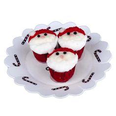 Miniature Three Santa Cupcakes