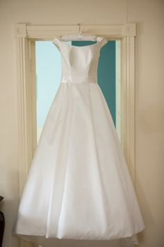 Boat Neck satin wedding dress by Suzanne Neville Circus Photography, Wedding Dresses 2014, Center Stage, Boat Neck, Bridal Collection, Big Day, Real Weddings, Classic Style, One Shoulder Wedding Dress