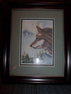 Wolf Mountain framed