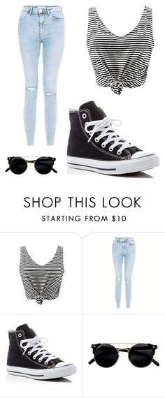 """School"" by s42d9 ❤ liked on Polyvore featuring New Look and Converse"