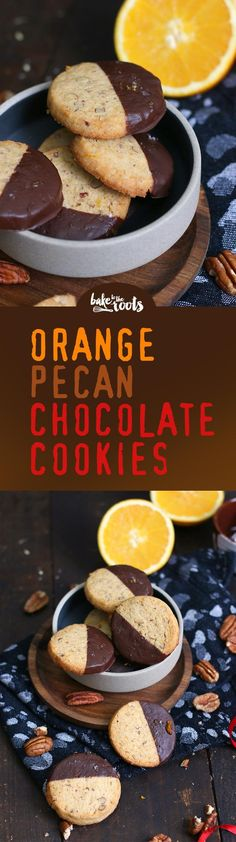 Delicious Orange Pecan Chocolate Cookies | Bake to the roots