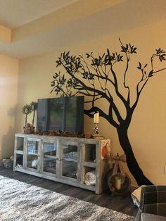 Vinyl Wall Decal Sticker Leaning Tree #AC153   StickerBrand