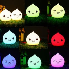 20d4a3cd9de [US$7.51] Battery Powered Colorful Waterdrop Silicone LED Night Light for  Kid Bedroom Decoration