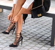 Would love to strap up with this sexy stiletto! #sexy #shoeporn #chic #heels #style #want #highfashion #shoelover