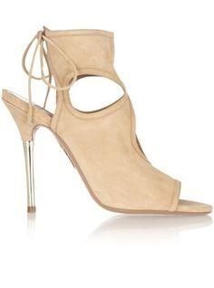 Aquazarra Cutout Suede Sandals via StyleList | http://aol.it/1sorijo