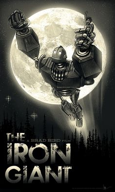 An alternative movie poster for the film The Iron Giant, created by Paul Shipper, featured on AMP Best Movie Posters, Movie Poster Art, Science Fiction, The Iron Giant, Kunst Poster, Film D'animation, Anime Kunst, Alternative Movie Posters, Arte Pop