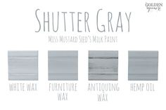 Shutter Gray Finishes #MMSMP #mmsmilkpaint