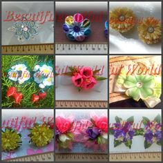 Your place to buy and sell all things handmade Girls Bows, Girls Accessories, Hair Ties, Flowers In Hair, How To Make, Handmade, Etsy, Color, Hair Bows