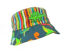 New at Jamie Rae Hats Inc.- Dino Sun Hat for your lil Dude!