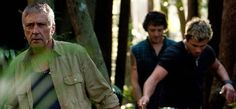 John Waters as the evil poacher in Return to Nim's Island