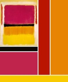 Mark Rothko - Violet, black, orange, yellow on white and red; 1949.