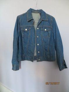Womens M Liz Claiborne Denim Jacket #LizClaiborne #DenimJacket