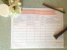 Free Printable to get the most value out of your cosmetics - Cosmetics Management Sheet | Dash of Classy