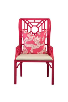 Boulevard Wing Chair by Lilly Pulitzer - Colors: Cocktail Pink or Classic White