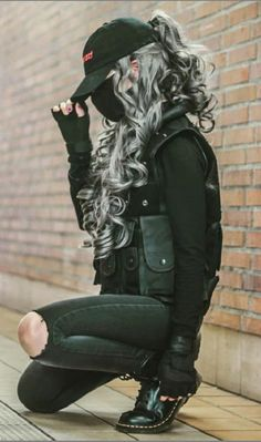 Edgy Outfits, Mode Outfits, Grunge Outfits, Dance Outfits, Girl Outfits, Fashion Outfits, Girl Fashion, Mode Swag, Cyberpunk Fashion