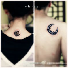 matching crescent moon tattoo for lovers #matching #tattoo