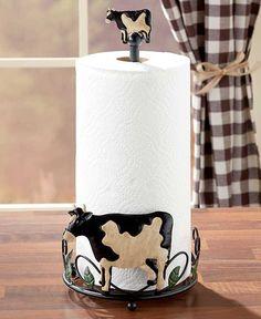 Resultado de imagen para images of kitchen decor with cow theme Cow Kitchen Decor, Cow Decor, Farmhouse Paper Towel Holders, Paper Towel Crafts, Flip Flop Craft, Eat More Chicken, Cow House, Cow Art, Cute Cows