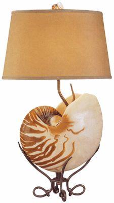 Nautilus shell lamp