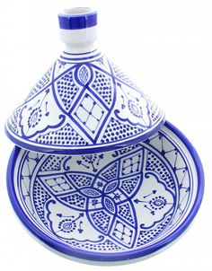 blue and white tajine/tagine