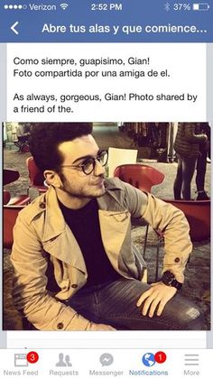 Gian with his glasses on