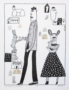 MARY JONES, YOU TOLD ME YOU LIKED RABBITS, Letterpress, Screenprint, and Collage,11 1/2 x 8 1/2""