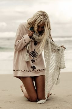 open weave cover-up and embellished sweatshirt