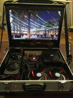 Portable console? B*tch pls. this is a Portable 4K Master race machine.