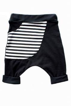 Stripe 'Kangaroo' Pocket Harem Shorts | TwoLittleKings