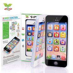 Baby Phone Toy English Educational Toys For Children English Language Electronic Toys Plastic Child Mobile Phone With Led Light