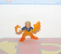 Marvel Super Hero Squad-RARE Johnny Storm Human Torch (Fantastic Four) Fast Ship