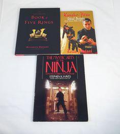 Lot of 3 Martial Art Books~Kyushu Fitsu~Book Of 5 Rings~Mystic Arts Of The Ninja