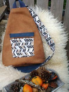 Sac bandoulière Creation Couture, Sewing Hacks, Backpacks, Shoulder Bag, Purses, Diy, Bags, Inspiration, Crochet