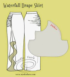 well-suited: Pattern Puzzle - Waterfall Drape Skirt