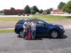 Leslie and Karen Pope from Greenview and their new 2010 CHEVROLET EQUINOX! Congratulations and best wishes from Hosick Motors, Inc. and Brian Major.