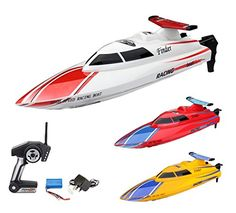 #PopularKidsToys Just Added In New Toys In Store!Read The Full Description & Reviews Here - Playtech Logic PL8001 Electric RC Radio Controlled Hobby High Speed Racing Boat - RTR, EP, Rechargeable, 2.4GHz - The WL911 Freedom electric RC racing boat comes with a water cooled 370high performance electric racing brushed motors for super fast speed and great maneuvering capabilities. Comes complete with a 7.4V rechargeable battery and a portable charger. The WL911 Freedom Electric