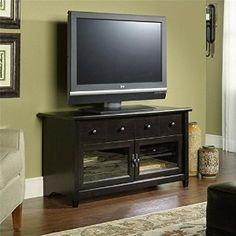 Sauder Palladia Panel Tv Stand Select Cherry Finish Http