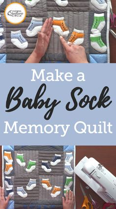 Baby quilts and baby memory quilts make perfect gifts, whether for your own little one or for a friend. See a fun new way to reuse outgrown baby socks by making a baby sock quilt- Ashley Hough shows you how.