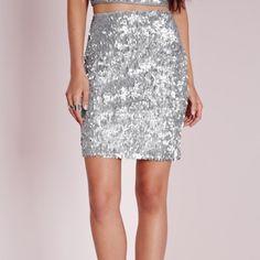 Sequin Skirt Mini sequin skirt Missguided Skirts Mini
