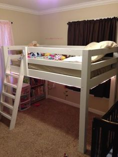 Full size loft bed...with a ceiling fan Kids bunk beds